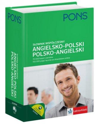 Słownik współczesny angielsko-polski, - okładka podręcznika