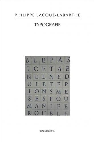 Typografie - okładka książki