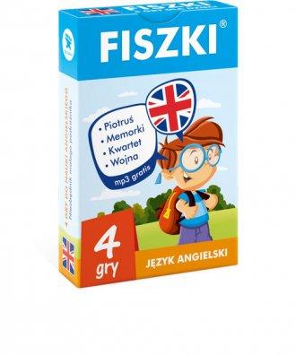 FISZKI 4. gry do nauki angielskiego - okładka podręcznika