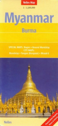 Myanmar mapa 1:1 500 000 - okładka książki