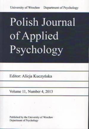 Polish Journal of Applied Psychology - okładka książki