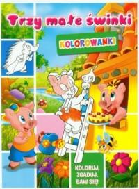Trzy małe świnki. Kolorowanki - okładka książki