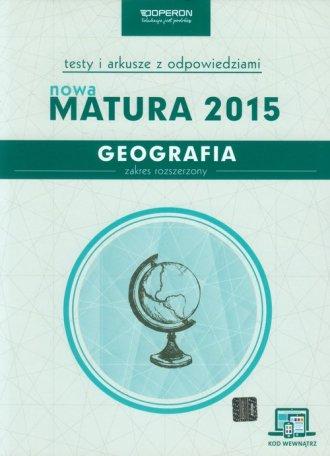 Geografia. Nowa Matura 2015. Testy - okładka podręcznika