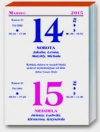 Kalendarz 2015. Dwudniowy, zdzierak - okładka książki