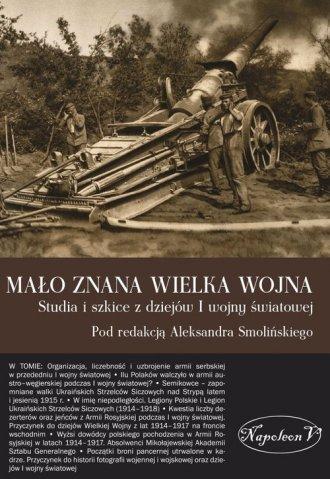 Mało znana Wielka Wojna. Studia - okładka książki