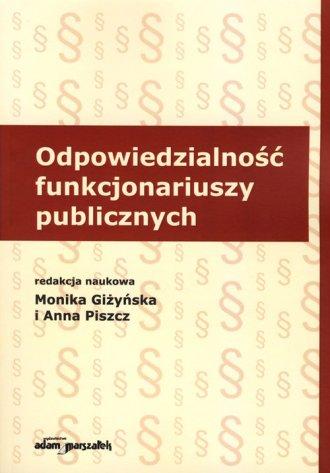Odpowiedzialność funkcjonariuszy - okładka książki