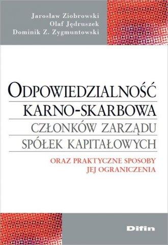 Odpowiedzialność karno-skarbowa - okładka książki