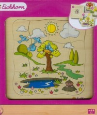 4 pory roku (puzzle drewniane 32-elem.) - zdjęcie zabawki, gry
