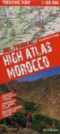 High Atlas Morocco. Trekking map (skala 1:100 000) - okładka książki
