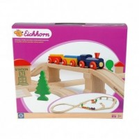 Kolejka drewniana (45-elem.) - zdjęcie zabawki, gry