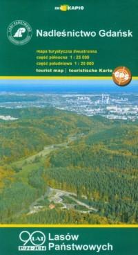 Nadleśnictwo Gdańsk mapa turystyczna (skala 1:25 000) - okładka książki