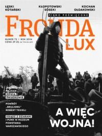 Fronda Lux nr 72. A więc wojna! - okładka książki