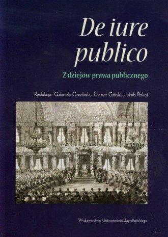 De iure publico - z dziejów prawa - okładka książki