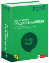 Wielki słowniki polsko-niemiecki. - okładka podręcznika