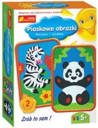 Panda i zebra. Piaskowe obrazki - zdjęcie zabawki, gry