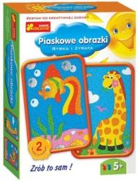 Rybka i żyrafa. Piaskowe obrazki - zdjęcie zabawki, gry