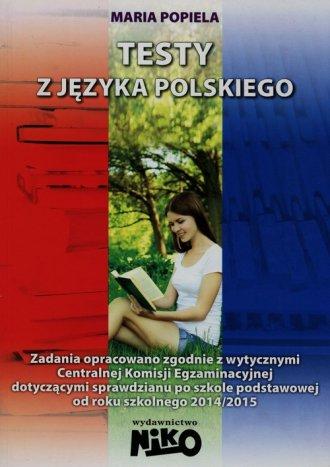 Testy z języka polskiego - okładka podręcznika