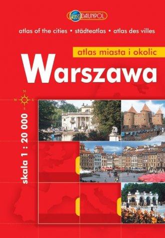 Warszawa. Atlas miasta i okolic - okładka książki