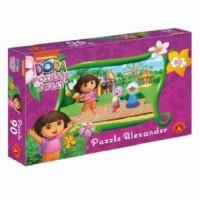 Wesołe miasteczko. Dora poznaje świat (puzzle 90-elem.) - zdjęcie zabawki, gry