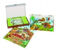 Epoka Dinozaurów (puzzle maxi 60-elem. + plakat + okulary 3D) - zdjęcie zabawki, gry
