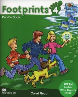 Footprints 4. Podręcznik + Portfolio - okładka podręcznika