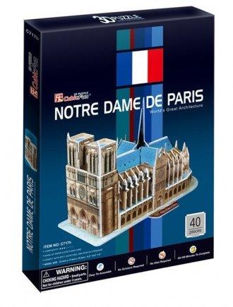 Katedra Notre Dame w Paryżu (puzzle - zdjęcie zabawki, gry