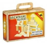 Klocki drewniane w pudełku - zdjęcie zabawki, gry