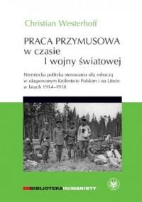 Praca przymusowa w czasie I wojny światowej.. Niemiecka polityka sterowania siłą roboczą w okupowanym Królestwie Polskim i na Litwie w latach 1914-1918 - okładka książki