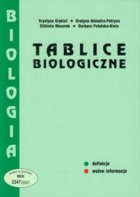 Tablice biologiczne - okładka podręcznika