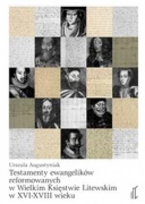 Testamenty ewangelików reformowanych - okładka książki