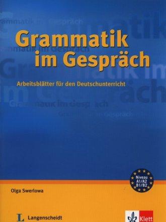 Grammatik im Gesprach. Arbeitsblatter - okładka książki