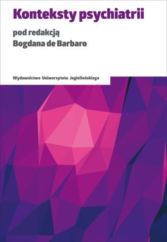 Konteksty psychiatrii - okładka książki