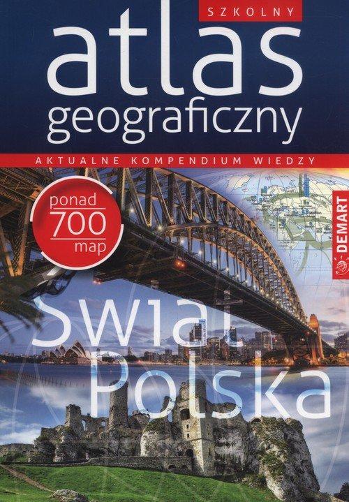 Szkolny atlas geograficzny - okładka książki