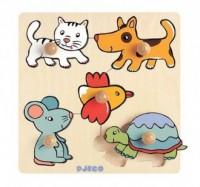Domowe zwierzęta (puzzle drewniane z uchwytami) - zdjęcie zabawki, gry