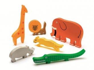 Safari (puzzle drewniane z uchwytami, - zdjęcie zabawki, gry
