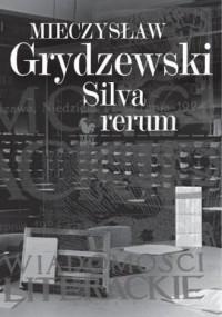 Silva rerum - okładka książki