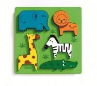 ZOO (puzzle drewniane z uchwytami) - zdjęcie zabawki, gry