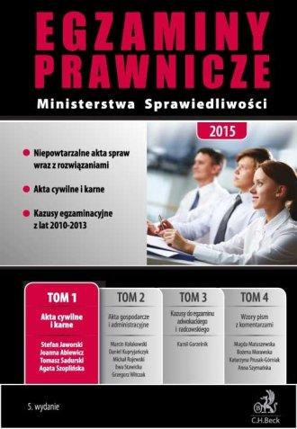 Egzaminy Prawnicze Ministerstwa - okładka książki