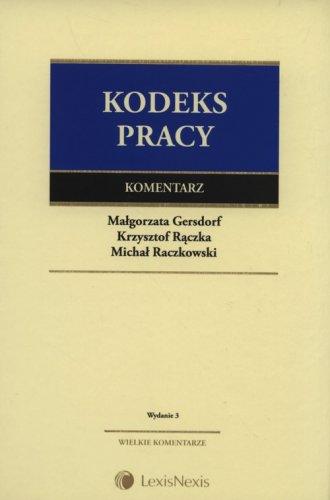 Kodeks pracy. Komentarz - okładka książki
