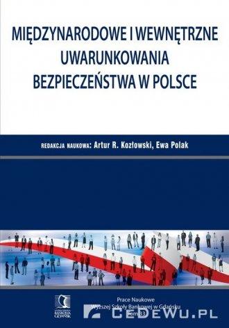 Międzynarodowe i wewnętrzne uwarunkowania - okładka książki