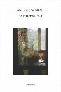O interpretacji - okładka książki
