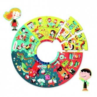Pory dnia (puzzle gigant 24-elem.) - zdjęcie zabawki, gry