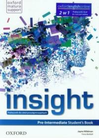 Insight. Pre-Intermediate Students Book. Szkoła ponadgimnazjalna. Podręcznik i kod do ćwiczeń online - okładka podręcznika