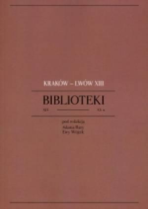 Kraków - Lwów XIII. Biblioteki - okładka książki