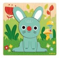 Niebieski królik (puzzle drewniane) - zdjęcie zabawki, gry