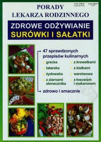 Zdrowe odżywianie. Surówki i sałatki. - okładka książki