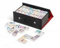 Domino (kolorowe 99 szt. w etuii) - zdjęcie zabawki, gry