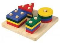 Plansza z figurami geometrycznymi - zdjęcie zabawki, gry