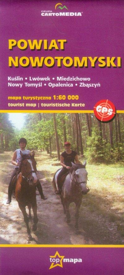 Powiat Nowotomyski - mapa turystyczna - okładka książki