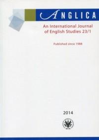 Anglica. An International Journal of English Studies 23(1)/2014 - okładka książki